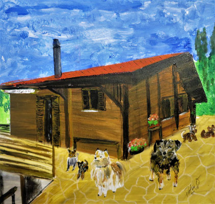 Wisenberg 50 x 50 cm Acryl auf Leinwand (verkauft)
