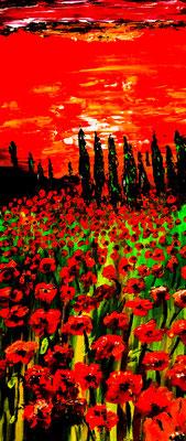 Guten Morgen Toscana. Acryl auf Leinwand 25x 60 cm