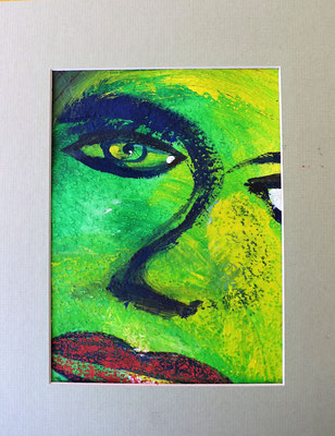 Das Gesicht 2 Acryl auf Papier