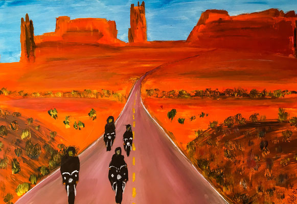 American dreams, Acryl auf Leinwand 60 x 40 cm (übermalt)