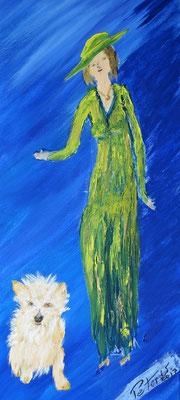 Lady with Doggie 1 (verkauft)