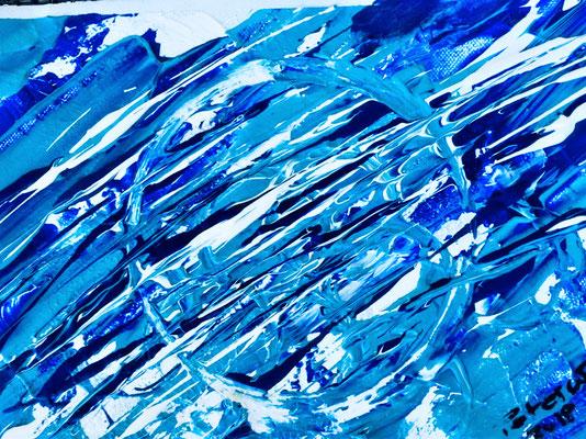 Wasser, acqua ,eau, Water. Acryl auf Leinwand 25x30 cm