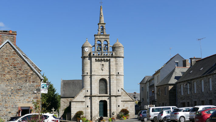 Die katholische Kirche Saint-Jean-Baptiste in Lézardrieux