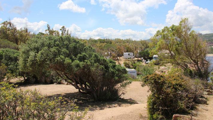Stellplätze des Campingplatzes Isuledda in Cannigione