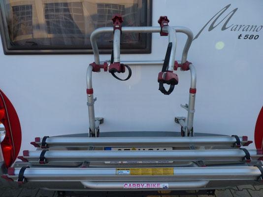 Fahrradträger an der Rückwand (abgebaut)