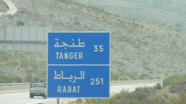 Auf den 150 km Autobahn gab es 4 Raststätten und 5 mobile Blitzer