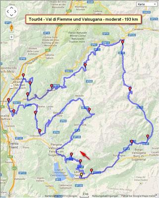 Tour Val di Fiemme und Valsugana