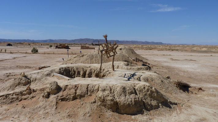 Das unterirdische Bewässerungssystem aus dem 11. Jahrhundert. Alle 15 m ist eine Öffnung zu Reinigungszwecken