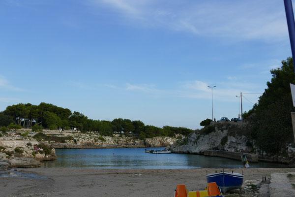Die Badebucht von Porto Badisco
