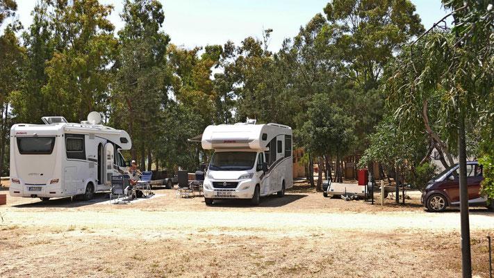 Unser Platz auf dem Stellplatz Bellavista Camper Service