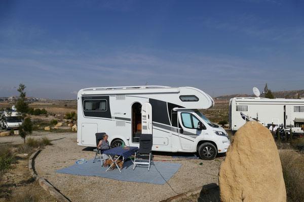 Unser endgültiger Stellplatz bei Rancho Bella Vista
