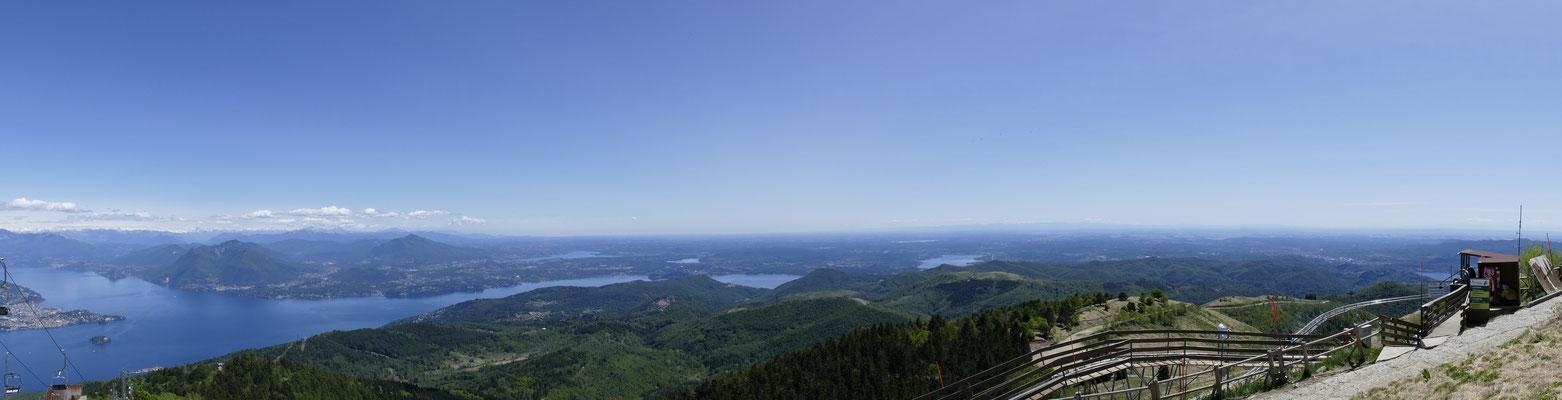 Blick vom Monte Mottarone in Richtung Südosten