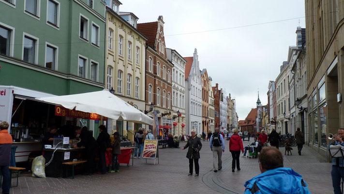 WUnderschöne Strßen in der Fußgängerzone von Wismar