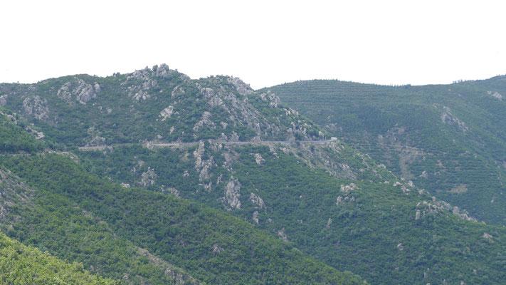 Die SS125 zum Passo Genna Silana