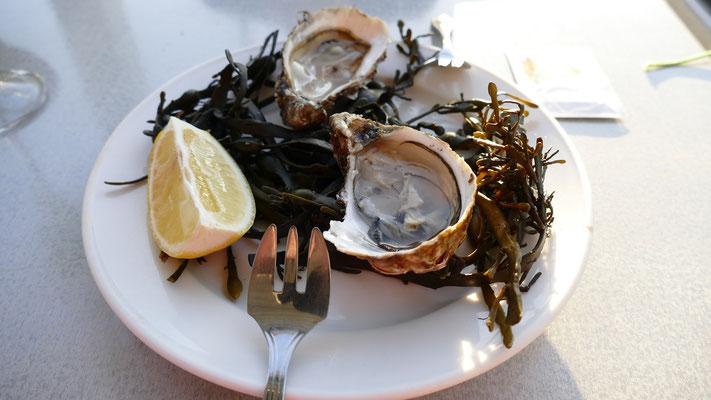 2 Austern für uns zum Probieren