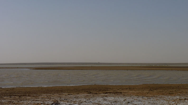 See in der Nähe von Merzouga, der in 2 Wochen verdunstet sein wird