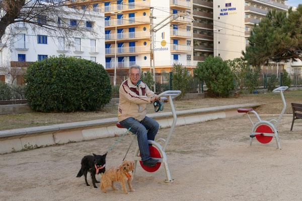 Radtour mit unseren beiden Hunden