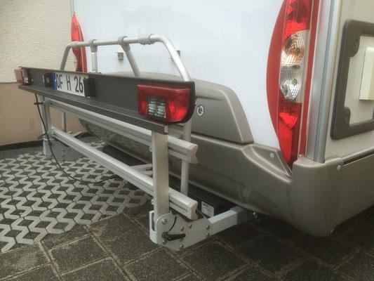 Abnehmbare Fahrradbühne mit 80 kg Belastung hochgeplappt