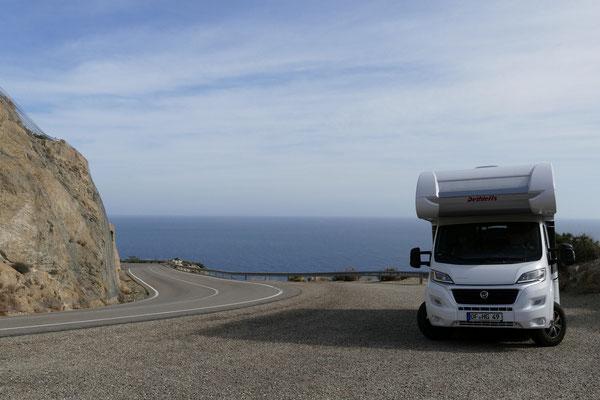 Die Passhöhe zwischen Mojácar und Carboneras