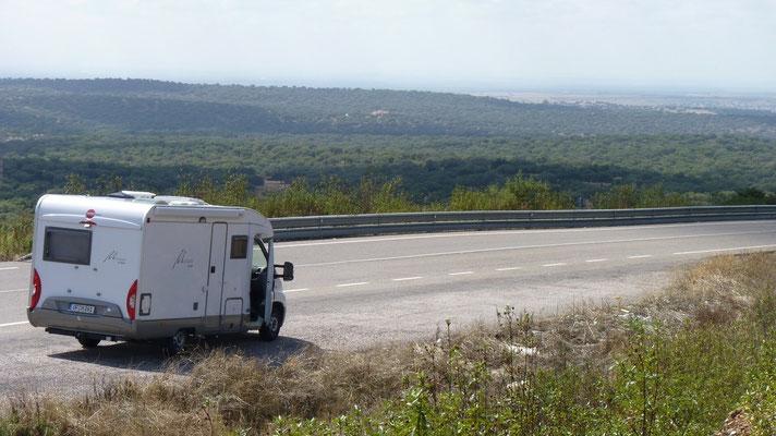 Zwischen Caceres und Badajoz (in die andere Richtung)