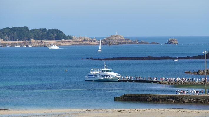 L'Arcuest und im Hintergrund die Ile de Brehat