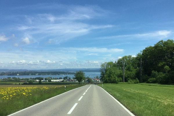 Blick von schweizer Seite auf den Bodensee