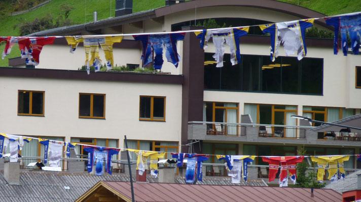 Dekoration für des Rad-Marathons