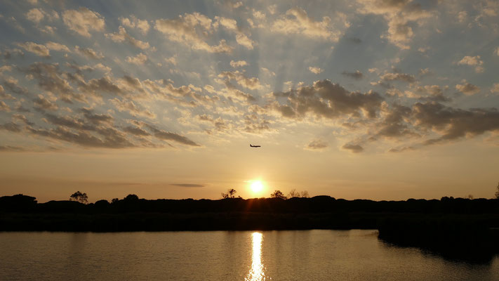 Sonnenuntergang mit Ryanair