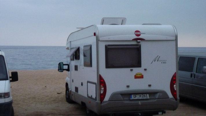 Übernachten direkt am Strand