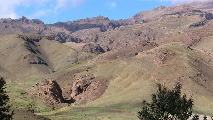 Wunderschöne Landschaft im Hohen Atlas
