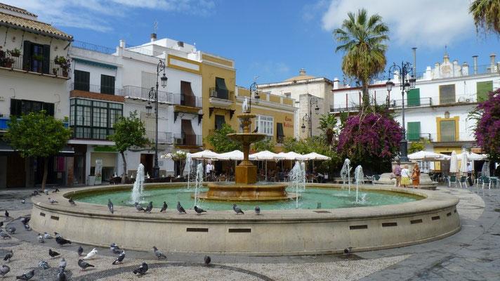 Brunnen in der Altstadt von Sanlucar de Barrameda