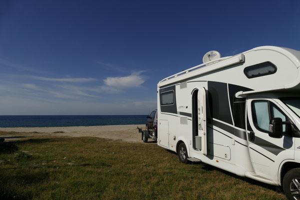 Unser Platz am Strand von Gioia Tauro