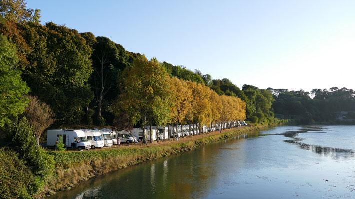 Kostenloser Stellplatz am Le Grundy in Tréguier
