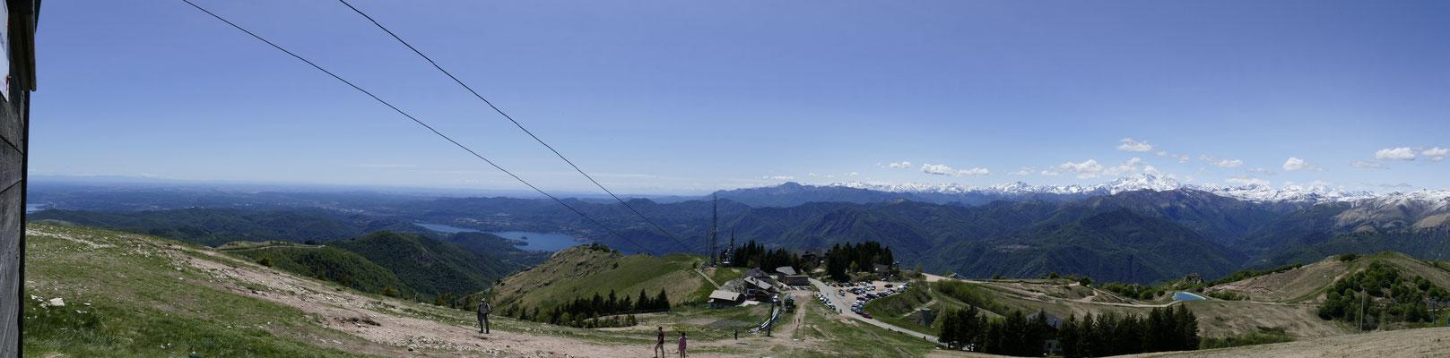 Blick vom Monte Mottarone in Richtung Südwesten