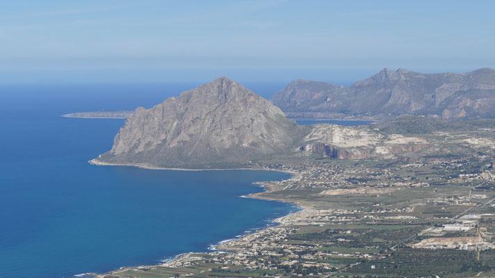 Blick auf den Monte Cofano