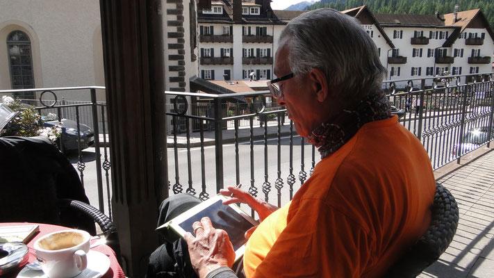 Ich schreibe den heutigen Reisebericht in San Martino di Castrozza