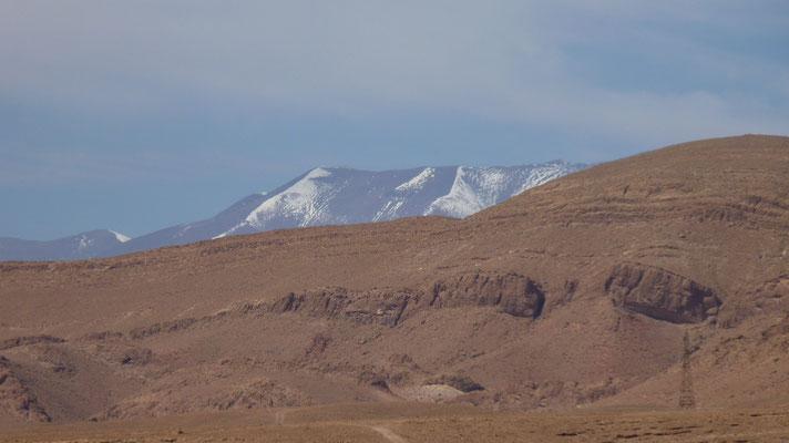 Im hohen Atlas gibt es jetzt noch Schnee