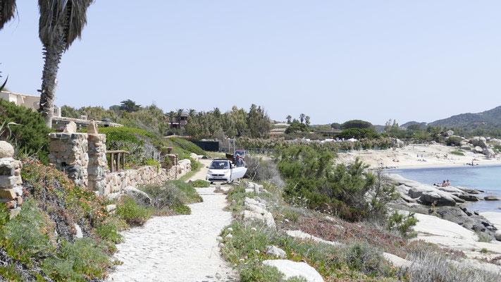 Hinten rechts der kleine Strand Spiaggia des Riso