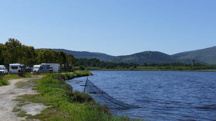 Die Lagune am Campingplatz Laguna blu