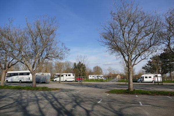 Der Parkplatz am Vogelpark