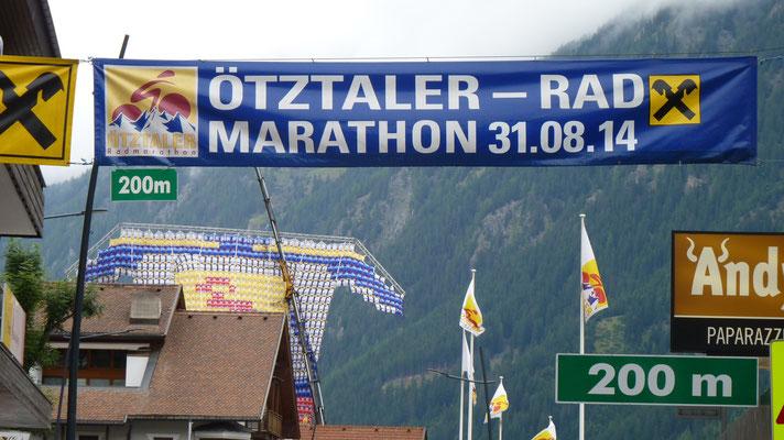Für morgen ist ein Radmarathon über das Timmelsjoch, Jaufenpass etc. geplant