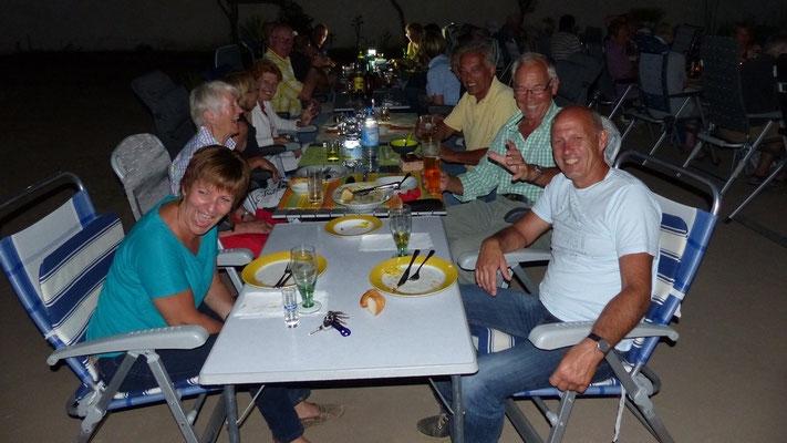 Beim gemeinsamen Abendessen hatten wir viel Spaß