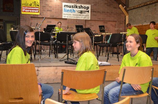 Unsere drei Saxophonistinnen