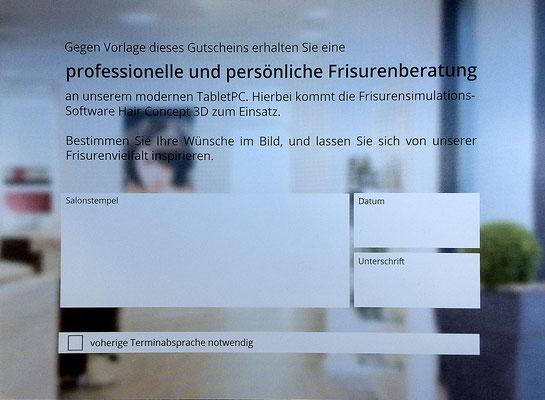 Gutscheine für eine Frisurenberatung gitb's im HairEck No.1 - Ihrem Friseur in Leipzig Reudnitz