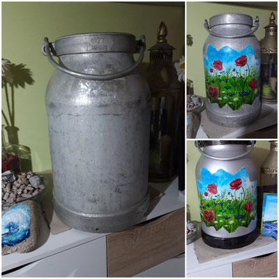 Bemalte Milchkanne
