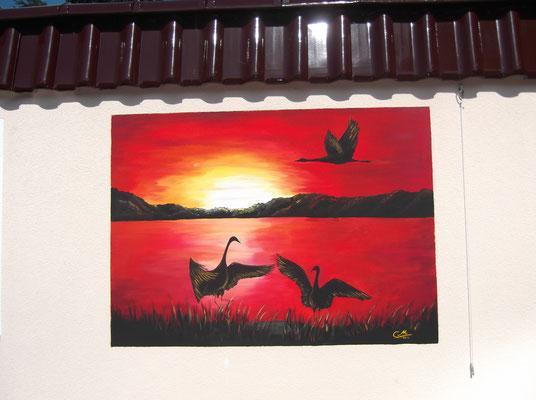 Wandmalerei Außenbereich Fe-wo