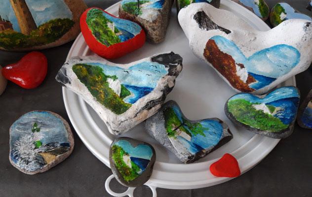 Steine in Herzenform