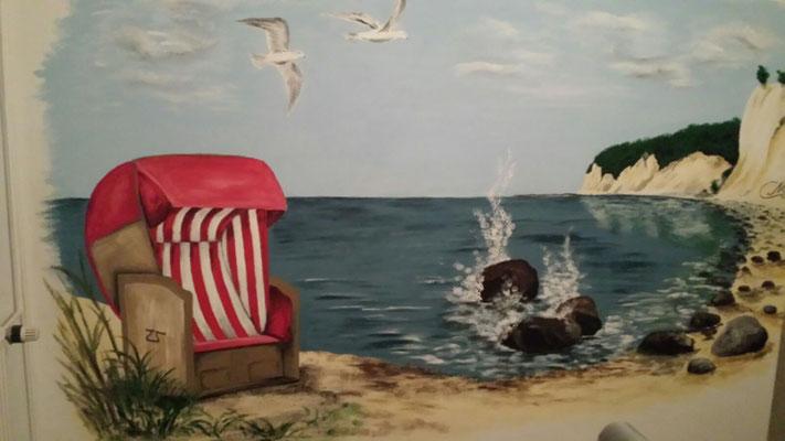 Wandmalerei in einer Fe-wo