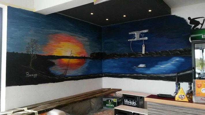Wandmalerei - Wasserskyanlage Zirkow