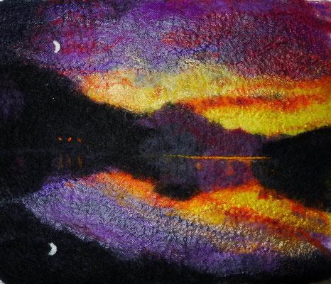 Sunset Lake (nach einer Fotografie von Peter Watson)